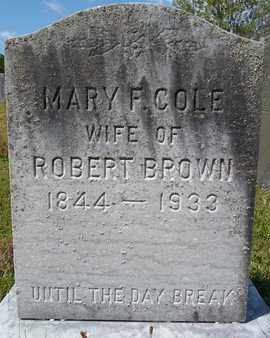BROWN, MARY F - Albany County, New York | MARY F BROWN - New York Gravestone Photos
