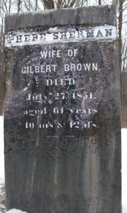 SHERMAN, PHEBE - Albany County, New York   PHEBE SHERMAN - New York Gravestone Photos