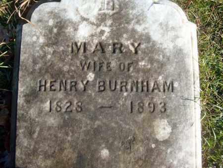 BURNHAM, MARY - Albany County, New York   MARY BURNHAM - New York Gravestone Photos