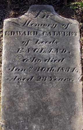CALVERT, EDWARD - Albany County, New York   EDWARD CALVERT - New York Gravestone Photos