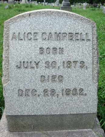 CAMPBELL, ALICE - Albany County, New York | ALICE CAMPBELL - New York Gravestone Photos