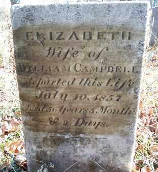 CAMPBELL, ELIZABETH - Albany County, New York   ELIZABETH CAMPBELL - New York Gravestone Photos