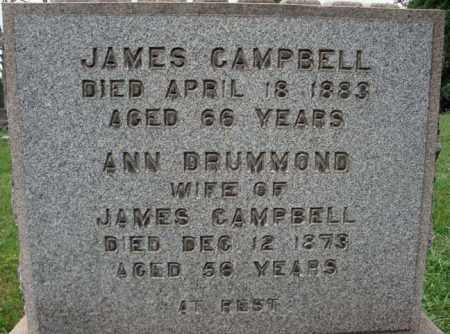 CAMPBELL, JAMES - Albany County, New York | JAMES CAMPBELL - New York Gravestone Photos