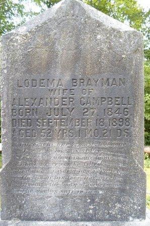 CAMPBELL, LODEMA - Albany County, New York | LODEMA CAMPBELL - New York Gravestone Photos