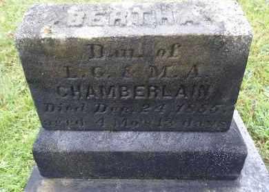 CHAMBERLAIN, BERTHA - Albany County, New York | BERTHA CHAMBERLAIN - New York Gravestone Photos