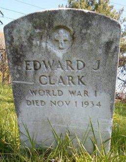 CLARK, EDWARD J - Albany County, New York | EDWARD J CLARK - New York Gravestone Photos
