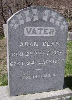 CLAS, ADAM - Albany County, New York | ADAM CLAS - New York Gravestone Photos