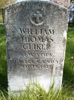 CLIKER (WWI), WILLIAM THOMAS - Albany County, New York | WILLIAM THOMAS CLIKER (WWI) - New York Gravestone Photos