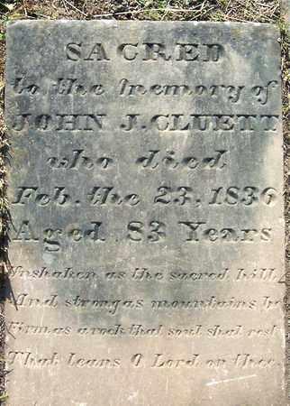 CLUETT, JOHN J - Albany County, New York | JOHN J CLUETT - New York Gravestone Photos