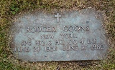 COONS, RODGER - Albany County, New York | RODGER COONS - New York Gravestone Photos