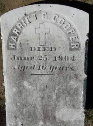 COOPER, HARRIET G - Albany County, New York | HARRIET G COOPER - New York Gravestone Photos