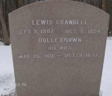 CRANDELL, DOLLY - Albany County, New York | DOLLY CRANDELL - New York Gravestone Photos