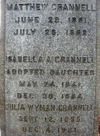 CRANNELL, JULIA WYMAN - Albany County, New York | JULIA WYMAN CRANNELL - New York Gravestone Photos