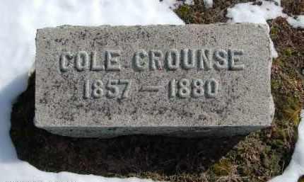 CROUNSE, COLE - Albany County, New York | COLE CROUNSE - New York Gravestone Photos