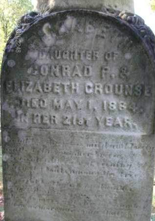 CROUNSE, ELIZABETH - Albany County, New York | ELIZABETH CROUNSE - New York Gravestone Photos