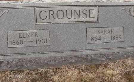 CROUNSE, SARAH - Albany County, New York | SARAH CROUNSE - New York Gravestone Photos
