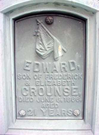 CROUNSE, EDWARD - Albany County, New York   EDWARD CROUNSE - New York Gravestone Photos
