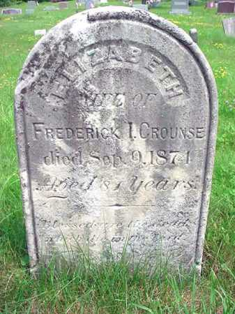 CROUNSE, ELIZABETH - Albany County, New York   ELIZABETH CROUNSE - New York Gravestone Photos