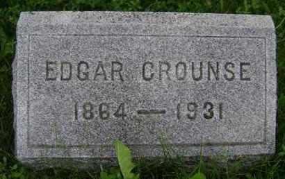 CROUNSE, EDGAR - Albany County, New York | EDGAR CROUNSE - New York Gravestone Photos