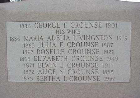 CROUNSE, MARIA ADELIA DELIA - Albany County, New York | MARIA ADELIA DELIA CROUNSE - New York Gravestone Photos