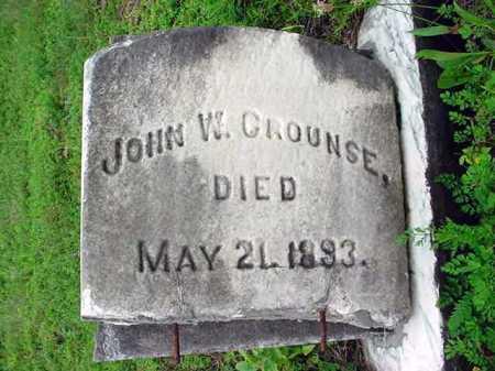 CROUNSE, JOHN W - Albany County, New York   JOHN W CROUNSE - New York Gravestone Photos