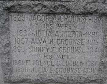 CROUNSE, FLORENCE C - Albany County, New York | FLORENCE C CROUNSE - New York Gravestone Photos