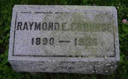 CROUNSE, RAYMOND E - Albany County, New York | RAYMOND E CROUNSE - New York Gravestone Photos