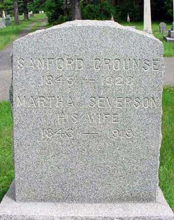 CROUNSE, SANFORD - Albany County, New York | SANFORD CROUNSE - New York Gravestone Photos