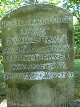 DAVIS, HESTER - Albany County, New York | HESTER DAVIS - New York Gravestone Photos