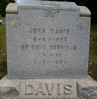 DAVIS, BRIDGET - Albany County, New York | BRIDGET DAVIS - New York Gravestone Photos
