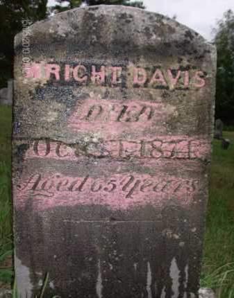 DAVIS, WRIGHT - Albany County, New York | WRIGHT DAVIS - New York Gravestone Photos