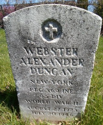 DUNCAN (WWII), WEBSTER ALEXANDER - Albany County, New York   WEBSTER ALEXANDER DUNCAN (WWII) - New York Gravestone Photos