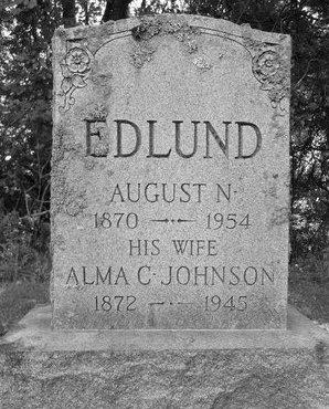 JOHNSON EDLUND, ALMA C - Albany County, New York | ALMA C JOHNSON EDLUND - New York Gravestone Photos
