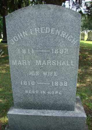 MARSHALL FREDENRICH, MARY - Albany County, New York | MARY MARSHALL FREDENRICH - New York Gravestone Photos
