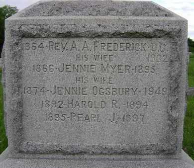 OGSBURY, JENNIE - Albany County, New York | JENNIE OGSBURY - New York Gravestone Photos