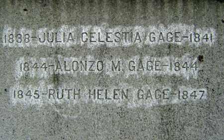GAGE, JULIA CELESTIA - Albany County, New York | JULIA CELESTIA GAGE - New York Gravestone Photos
