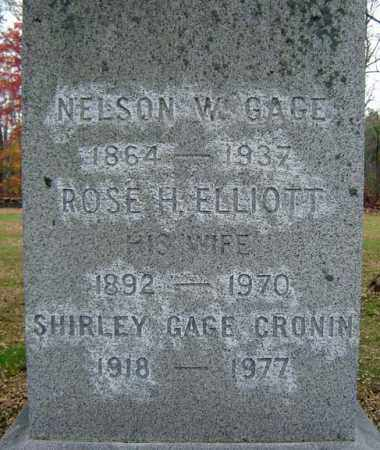 GAGE, NELSON W - Albany County, New York | NELSON W GAGE - New York Gravestone Photos
