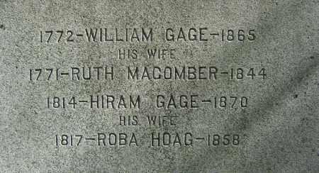 GAGE, HIRAM - Albany County, New York | HIRAM GAGE - New York Gravestone Photos