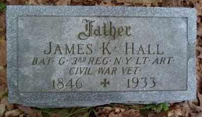 HALL, JAMES K - Albany County, New York | JAMES K HALL - New York Gravestone Photos