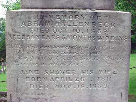 SHAVER, JANE - Albany County, New York   JANE SHAVER - New York Gravestone Photos