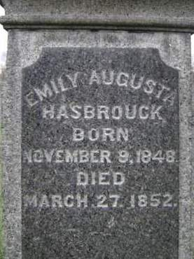 HASBROUCK, EMILY AUGUSTA - Albany County, New York | EMILY AUGUSTA HASBROUCK - New York Gravestone Photos