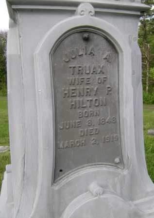 HILTON, JULIA A - Albany County, New York | JULIA A HILTON - New York Gravestone Photos