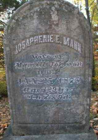 MANN, JOSAPHENIE - Albany County, New York | JOSAPHENIE MANN - New York Gravestone Photos