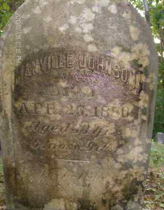 JOHNSON, MANVILLE - Albany County, New York | MANVILLE JOHNSON - New York Gravestone Photos