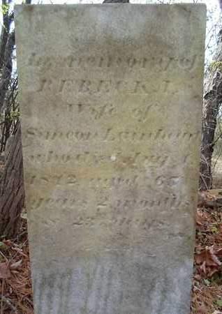 LAINHEART, REBECKA - Albany County, New York | REBECKA LAINHEART - New York Gravestone Photos