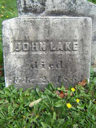 LAKE, JOHN - Albany County, New York | JOHN LAKE - New York Gravestone Photos