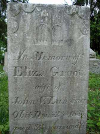 GROOT, ELIZA - Albany County, New York | ELIZA GROOT - New York Gravestone Photos