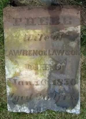 LAWSON, PHEBE - Albany County, New York   PHEBE LAWSON - New York Gravestone Photos
