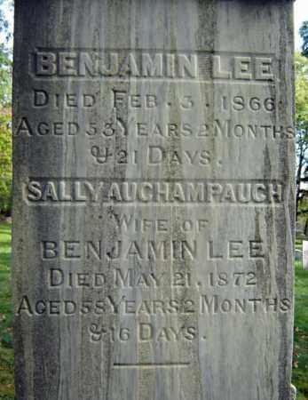 AUCHAMPAUGH LEE, SALLY - Albany County, New York | SALLY AUCHAMPAUGH LEE - New York Gravestone Photos