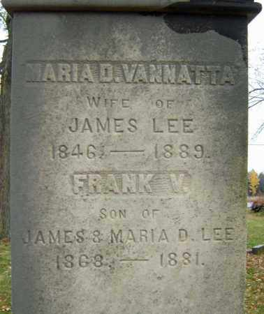 VAN NATTA LEE, MARIA D - Albany County, New York | MARIA D VAN NATTA LEE - New York Gravestone Photos